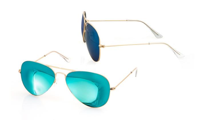 f9efbfa2a78 AQS Unisex James Aviator Sunglasses - Teal - Check Back Soon - BLINQ