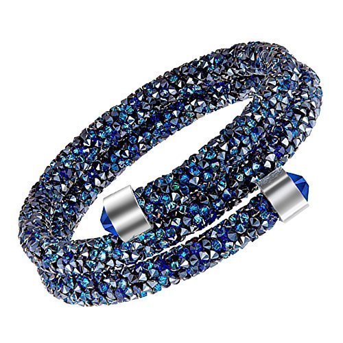 Crystal Energy Double Wrap Bracelet Made with Swarovski Crystals  Blue ... 5249c3be45bc