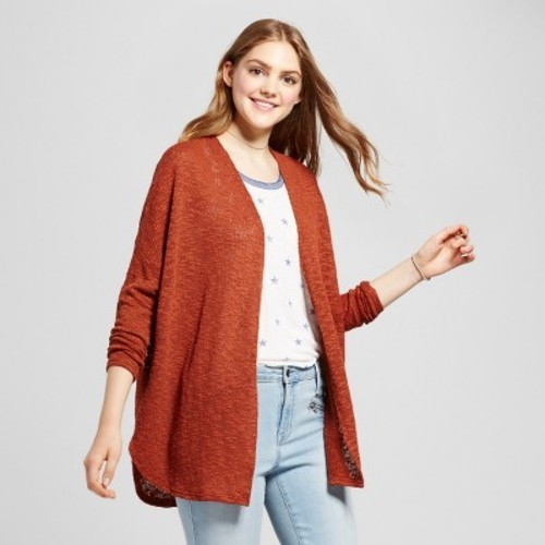 Women s Hacci Cardigan - Mossimo Supply Co. Brown XS - Check Back ... 1f9f7aa13