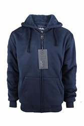 Lee Hanton Men's Solid Sherpa Lined Hoodies M Navy 1669766