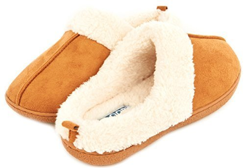 c80c4460cfe ... Floopi Women s Indoor Outdoor Fur Lined Clog Slippers - Chestnut -  Size  ...