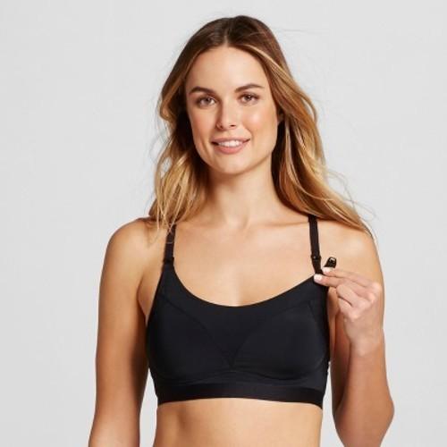 f57a2409a2 Gilligan O Malley Wire Free Nursing Yoga Bra - Black - Size L ...
