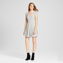 Women's Fit and Flare Skater Dress - Mossimo Supply Co.  Gray XS 1741049
