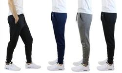 Men's Slim-Fit French Terry Joggers: Medium/Black 1741205