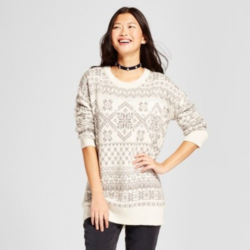 f896fa8c78d16 Women s Patterned Pullover Sweater - Mossimo Supply Co. Cream M ...