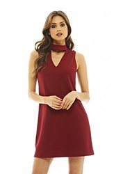 AX Paris Women s Shift Dress with Cut Out  Detail 4 Red 1754987