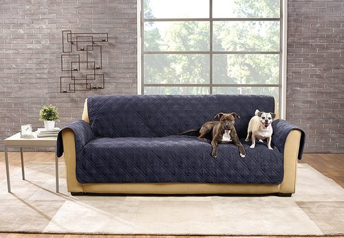 Sure Fit Deluxe Non Skid Waterproof Pet Sofa Furniture Cover Storm