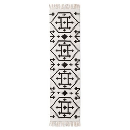 Black White Kilim Accent Runner Rug 1 10 X7 Nate Berkus Check Back Soon Blinq