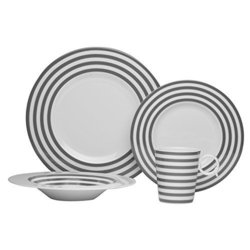 Red Vanilla 'Freshness Mix  Match Lines' Grey 4-piece Place Setting 1774739