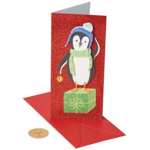 papyrus 10ct penguin on gift allegro holiday boxed cards - Papyrus Holiday Cards