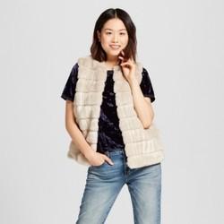 Women s Faux Fur Vest - A New Day Cream XL - Check Back Soon - BLINQ df3a96477