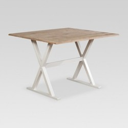 Threshold 40 square drop leaf rustic dining table whitenatural threshold 40 square drop leaf rustic dining table whitenatural watchthetrailerfo