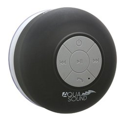 Aduro AquaSound WSP20 Waterproof Shower Bluetooth Portable Speaker Black
