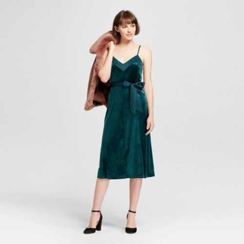 Women's Velvet Slip Dress - A New Day