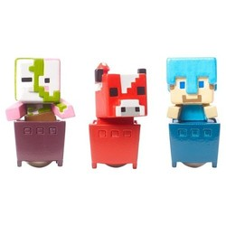 Minecraft Zombie Pigman/Diamond Steve and Mooshroom Mini Figure - 3 pack 1752112