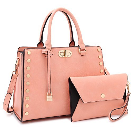 9eb9ecf89 Michael Kors Women's Belted Vegan Satchel Handbag with Clutch - Pink -  Check Back Soon - BLINQ