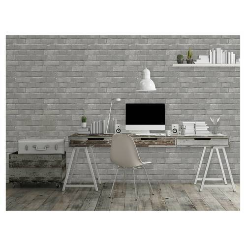 Peel And Stick Textured Wallpaper: Devine Color Textured Brick Peel And Stick Wallpaper