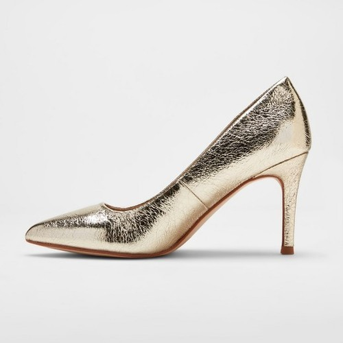 3e9c59b22 A New Day Women s Gemma Pointed Toe Pumps - Gold - Size 6 - Check ...