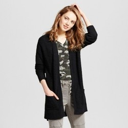 Women's Shaker Stitch Cardigan - Mossimo Supply Co. Black S 1806541