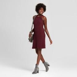 Xhilaration Junior Women's High Neck Sweater Dress - Plum - Size: L 1806810