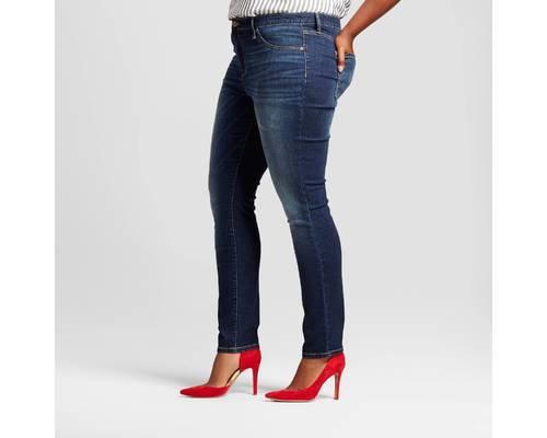 8bc086a197ec1 Ava & Viv Women's Plus Size Core Jeggings - Dark Blue - Size:20W ...