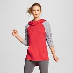 Women's Tech Fleece Hoodie - Red Spark Heather L - C9 Champion 1812566