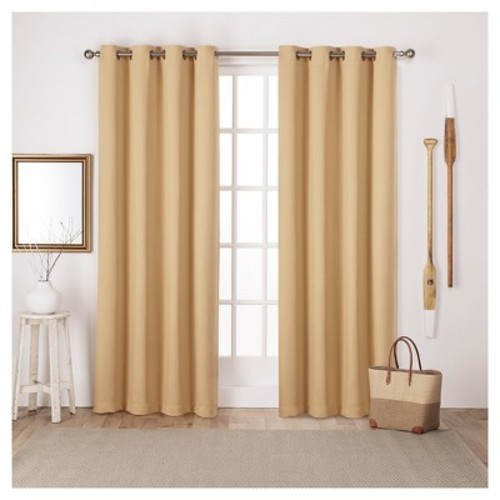 Home Outfitters Set Of Two Twill Weave Curtain Panels