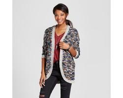 Love @ First Sight Junior Women's Open Cardigan - Multi - Size:L 1813633