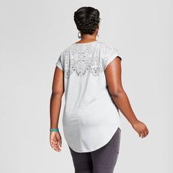 aa18e8b126c Ava   Viv Women s Plus Size Burnout T-Shirt - Heather Gray - Size X ...