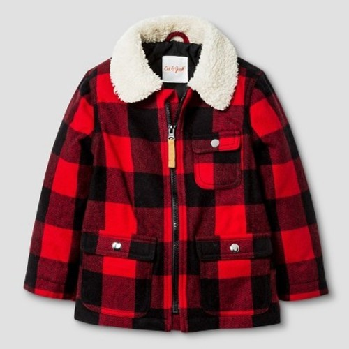 378440c74 Toddler Boys' Plaid Jacket with Faux Fur Collar Cat & Jack - Red 2T - Check  Back Soon - BLINQ