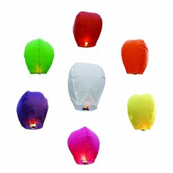 20 Pack Chinese Sky Fly Fire Lanterns: Multi-Color