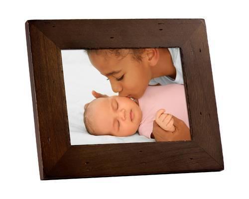 Polaroid Polaroid 8 Digital Photo Candlenut Distressed Wood Frame