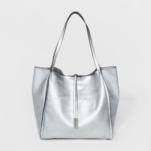Women S Double Handle Per Tote Bag A New Day Silver