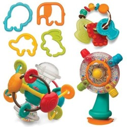 Infantino Gaga Shake, Turn, Link & Teethe Activity Set 1857728