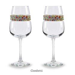 Shimmering Wines Wine Glass Sets Multi-color Wine Glass Confetti 1860226