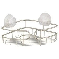 InterDesign Corner PowerLock Ultra Suction Shower Caddy - Satin Silver 1733180