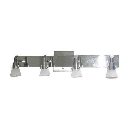 Portfolio 4 Light Brushed Nickel Bell Vanity Bar