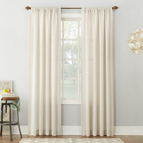 Sun Zero No. 918 Linen Blend Textured Curtain Panel