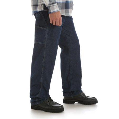 cd1d83ac ... Wrangler Men's Fleece Lined Carpenter Pant - Blue - Size:32x34 ...