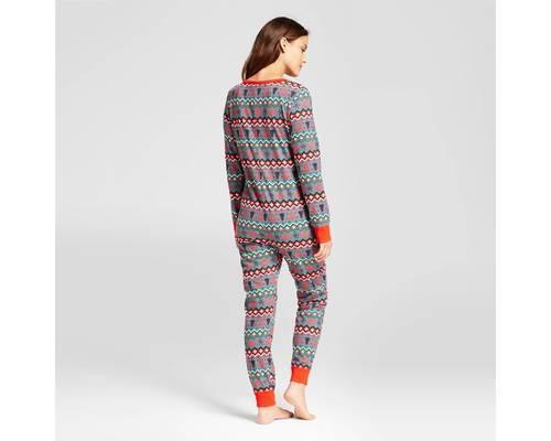 dd3d4cfe8e Wondershop Women s Reindeer Fair Isle Pajama Unionsuit - Red - Size ...