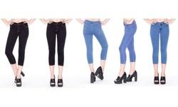 Women's Easy Butt Lifting Skinny Capri Jean - Blue - Size:S (0-2) 1879136