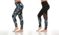 S2 Sportswear Women's Graffiti-Printed Activewear Legging - Multi - Size:L 1881682