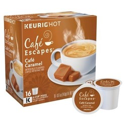 Caf  Escapes  Caf  Caramel Coffee - K-Cup Pods - 16ct 1887434