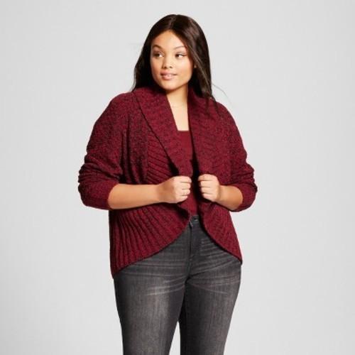 fe4d1e9af20e6 Women's Plus Size Chenille Cocoon - Ava & Viv Berry 1X - Check Back ...