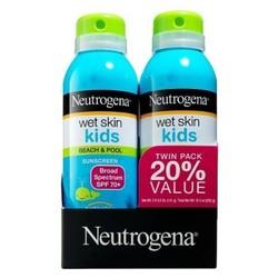 Neutrogena Wet Skin Kids Sunscreen Spray Twinpack - SPF 70 - 5oz