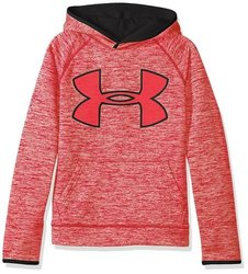 Boys' Storm Armour Fleece Twist Highlight Hoodie - Red/Black - Size:XL 1881037