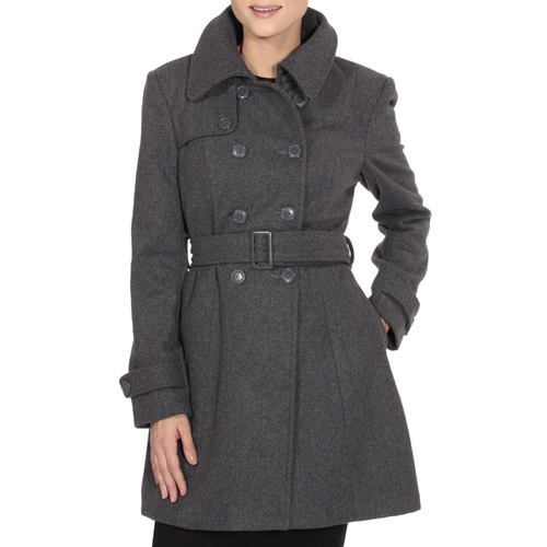 0aa4600eb3 ... Alpine Swiss Keira Women'S Wool Double Breasted Belted Trench Coat Xl  Black Wool & Pea ...