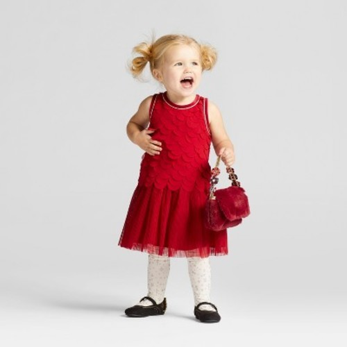 6e94fb8badf Toddler Girls  Scallop A Line Dress Cat   Jack Red Velvet 12 M ...
