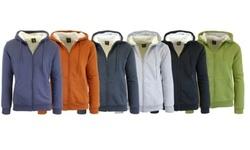 Harvic Men's Sherpa Lined Fleece Hoodies - Black & Charcoal - Size:2XL 1900274