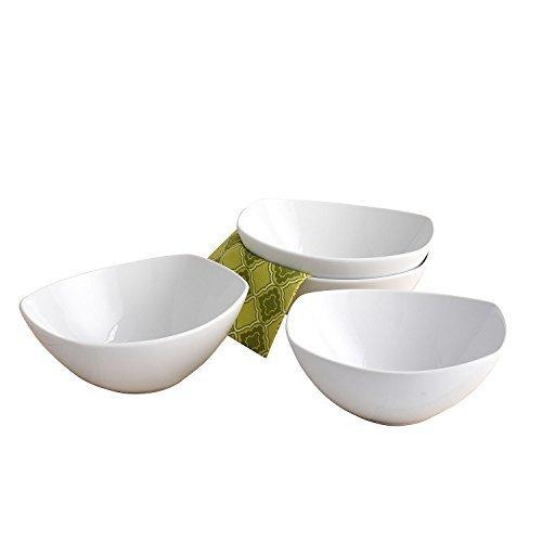 Member\'s Mark Porcelain Serving Bowl Set of 4 - White - Check Back ...